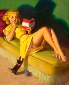 pinup girl reading 242x300 Is Traditional Publishing Becoming The New Vanity Publishing?