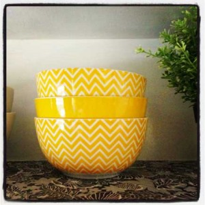 My 'I Just Wrote a Novel' yellow bowls.