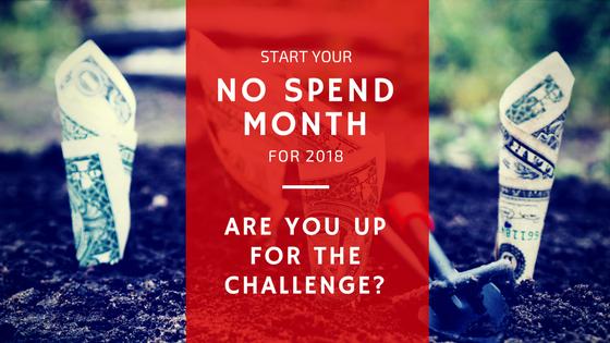 No Spend Month Challenge Blog Post Header