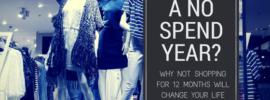 a no spend year header